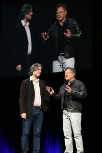 NVIDIA CEO Jen-Hsun Huang chats with Shazam CTO Jason Titus on using GPUs for audio search.