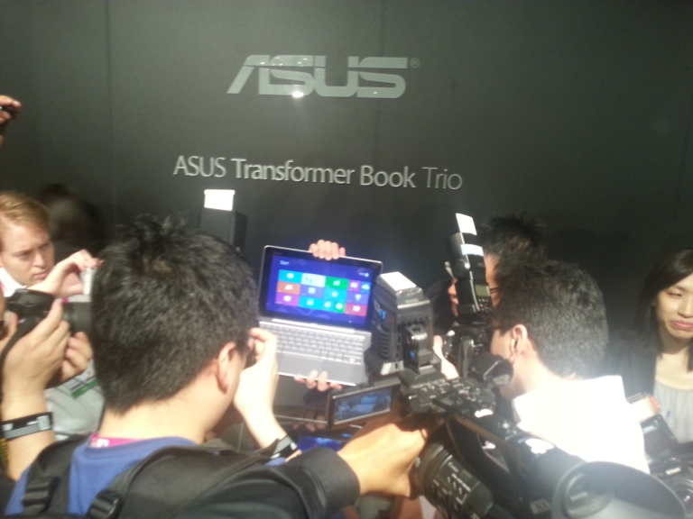 The ASUS Transformer Book Trio is among the many smart devices launched at Computex.