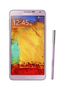Galaxy Note 3 pink