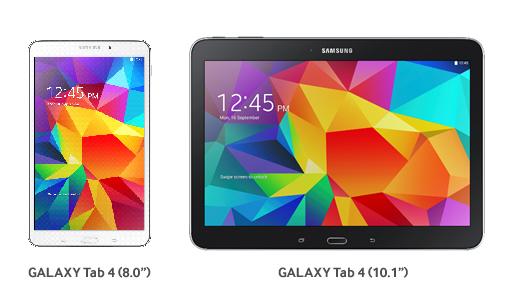 Samsung Galaxy Tab 4 series