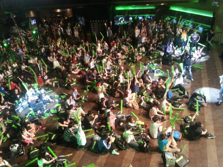 NVIDIA Gamer's Day crowd