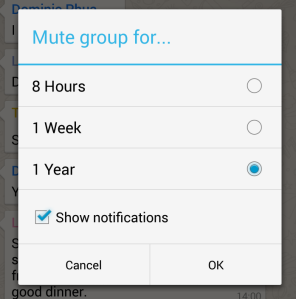 WhatsApp mute