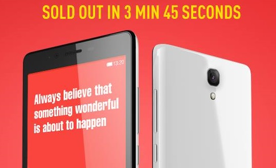 Redmi Note 4G sold out