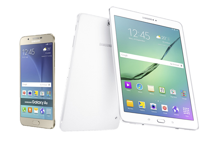 Samsung Galaxy Tab S2 and A8 4G