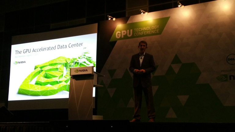 Marc Hamilton announces the establishment of the NVIDIA Technology Centre Asia Pacific at GTC South Asia.