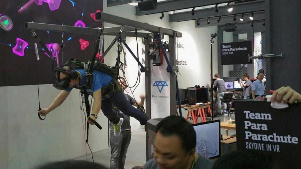 VR parachute