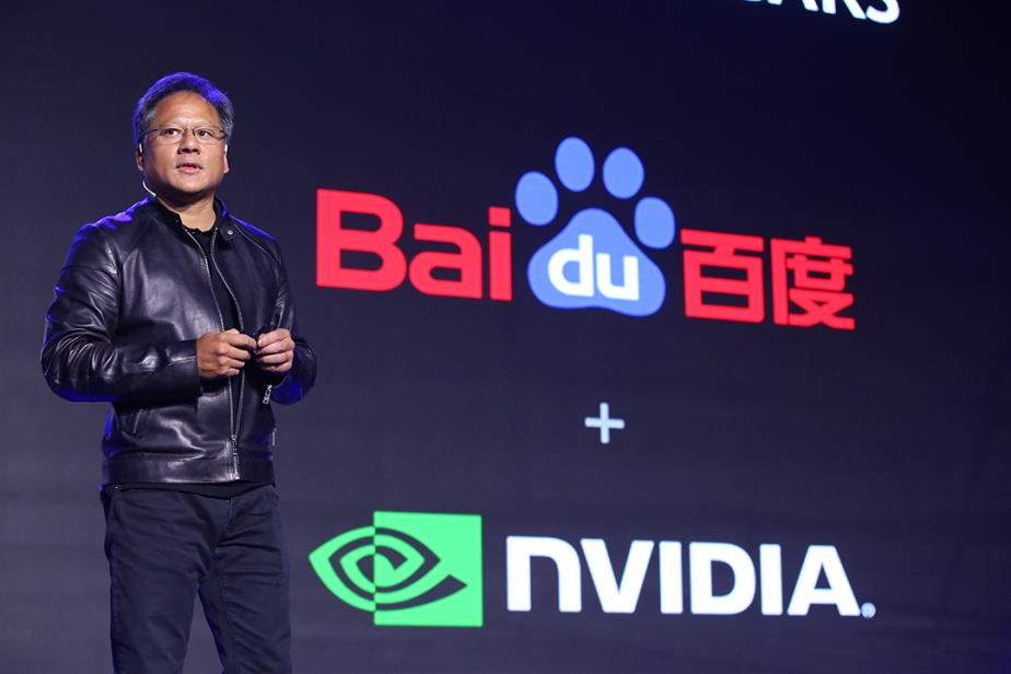 NVIDIA CEO Jen-Hsun Huang makes the announcement at Baidu World Conference in Beijing.